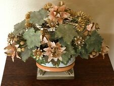 Italian Tole Floral Bouquet - Mid Century - Hollywood Regency