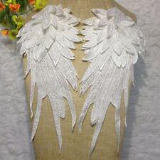 Chic Wings Venise Lace Trims Motif Clothes Shoudler Applique Patch Accessory 2PC