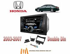 NEW 2003-2007 HONDA ACCORD BLUE TOOTH CD USB 2 DIN CAR STEREO INSTALL DASH KIT