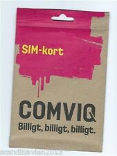 Comviq Prepaid Sim Card Swedish Cheapest Cell Lines New Start Packet From Sweden