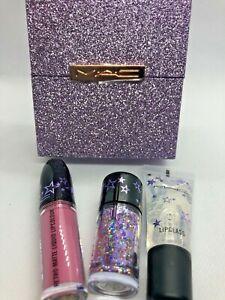 MAC~Starring You~Shining Moment Kit~FUCHSIA~Glitter Lipstick Gloss WORLD  SHIP!