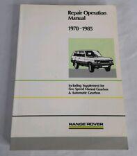 OEM Factory RANGE ROVER 1970-1985 Repair Operation Manual