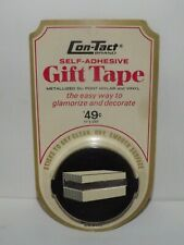 """Vintage Con-Tact Self Adhesive Gift Tape Silver Matallized 1/2"""" x 150"""" Nos"""