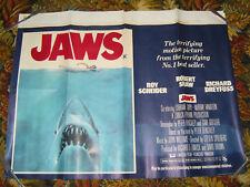 JAWS  - Original UK Crown Quad movie Poster 1975 - SPIELBERG  Film  -  UK Seller