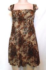 BEACH COVER UP Animal Print SWIMSUIT COVER-UP Bathing Suit Coverup SIZE S