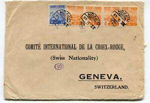 Japan WWII censored cover Red Cross Yokohama to the ICRC Geneva CH 17.9.43