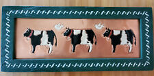 Milk Cow Rustic Country Farmhouse Décor Metal Art & Wood Framed Picture ~ Nice!
