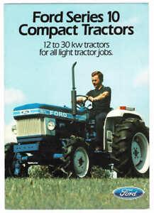 Orig 1983 Ford Series 10 Compact Tractor Range Australian Brochure, 1210 to 2110