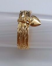 KutChiu 14K Gold Seven ( 7 ) Day Ring #696 Size 6.5