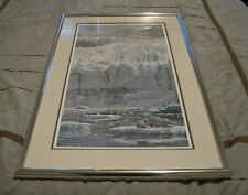 "Ed Tussey, ""Glacier and Harbor Seals"" Signed LE 403/950 Art Print 23x37"""