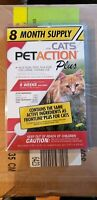 Pet Action Plus Flea and Tick Treatment for Cats 8 Month Supply * SEALED *