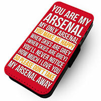 Chant- You Are My Arsenal Song Red Background Faux Leather Flip Phone Cover Case