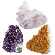 Crystal Allies: 3 Mineral Starter Pack w/ Amethyst, Citrine, Crystal Quartz