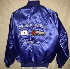 "Vintage Amoco Indianapolis Terminal Satin Jacket size large with ""Ed"" name"