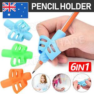 6Pcs Set Children Pencil Holder Pen Writing Aid Grip Posture Tools Correction AU