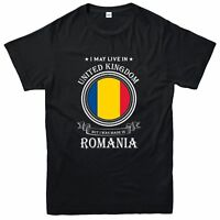 Made In Romania T-Shirt, Living In United Kingdom Nation Love Tee Top