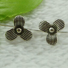 free ship 380 pieces tibet silver flower spacer 13x8mm #3527