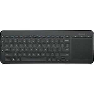 Microsoft All-in-One Media Keyboard - Wireless - Integrated Multi-touch Trackpad