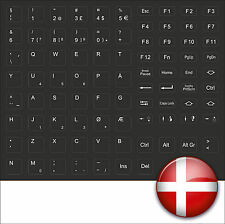 TASTATURAUFKLEBER SCHWARZ NORWEGISCH DÄNISCH KEYSTICK DEMMARK BLACK IBM HP FSC