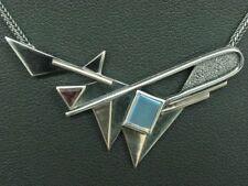 925 Sterling Silber Collier mit Turmalin & Quarz Besatz / 9,5g / 48,0cm