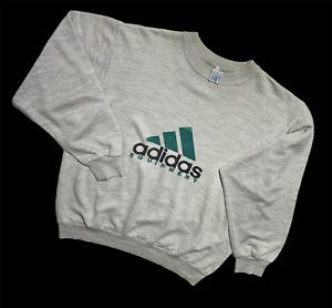 Men`s Vintage adidas equipment sweatshirt grey big logo size L