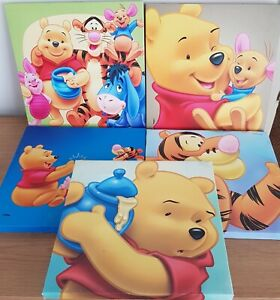 Disney Winnie The Pooh Set Of 5 Canvas Prints Tigger Honey