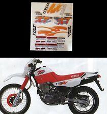 Kit adesivi decal stickers yamaha xt 600 e 3tb 1990 Mod rosso arancio