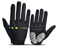 Lambda/Lameda Cycling Bike Gloves Long Finger Black & Lime Green  size S to 2XL