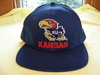 VTG University of Kansas Jayhawks Hat Crimson & Blue Baseball Cap NCAA NICE!