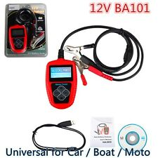 New BA101 Automotive Load Battery Tester Digital Analyzer For Car / Boat / Moto#
