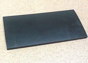 "Neoprene Rubber Sheet 3/8"" Thick x 8-1/2"" x 11"" Rect Pad 60A Std Flex"