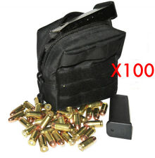 (100) .44 MAG AMMO MODULAR MOLLE UTILITY POUCHES FRONT HOOK LOOP STRAP ..44 44