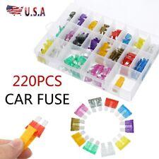 220Pcs Assorted Car Fuse Mini Blade Fuses Set Auto Truck Assortment Set Kits New