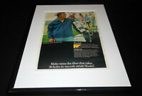 Arnold Palmer 1968 Kodak Kodel 11x14 Framed ORIGINAL Vintage Advertisement