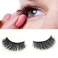 5Pairs 3D Eyelashes Hand Made Reusable Natural Long Eyelashes Eyelashes Min N3X7