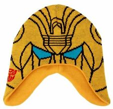 The Transformers Bumblebee Image Knitted Laplander Beanie Hat, NEW UNWORN