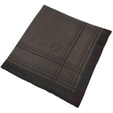Gucci Einstecktuch/Taschentuch Unterschrift Aufdruck Seidenmischung Brown Bnwot