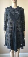 Auth. Stella McCartney Polka Dot Navy Lace Dress Size IT-42/M