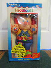 vintage 1991 fisher price kiddicraft dress'n count clown with box Rare