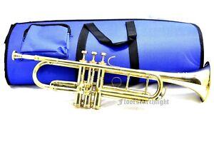 Set Of 2 Vintage Brass 20 Inch Bugle Trumpet Instrument Flugel Horn With 3 Valve
