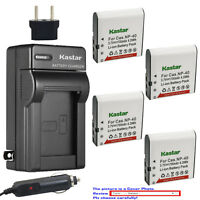 Kastar Battery AC Charger for Casio NP-40 CNP40 & Casio Exilim EX-FC100 Camera