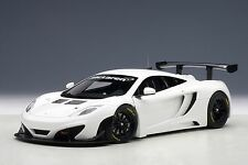 McLaren 12C GT3 White 1:18 AUTOart 81341 Brand New Diecast Car Model