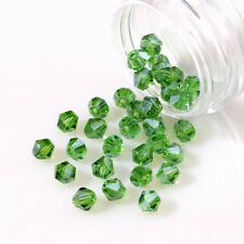 Spacer Beads Making Bracelet Jewelry Diy 4Mm100Pcs Green Crystal Glass Loose