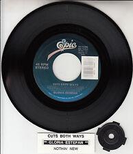 "GLORIA ESTEFAN  Cuts Both Ways 7"" 45 rpm record + juke box title strip NEW RARE!"