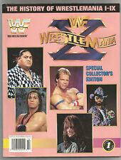 VINTAGE WWF MAGAZINE HISTORY OF WRESTLEMANIA I-IX 1-9 UNDERTAKER HART YOKO WWE