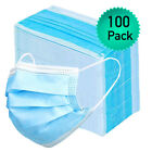 100pk Disposable Face Mask Adult Covers Mouth & Nose 3 Ply Ear Loop USA Seller <br/> IN STOCK – FREE and Quick Shipping from US in Chicago