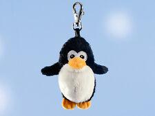 Rudolph Schaffer Pingy penguin key ring - SC211, Black & White , Metal & Plush