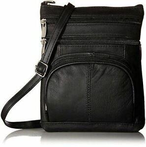 Real Leather Shoulder Bag Handbag Purse Cross Body Organizer Smart Phone Pockets