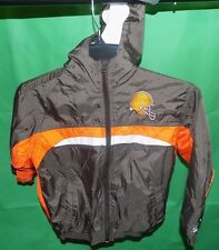 CLEVELAND BROWNS JACKET MADE BY REEBOK  KIDS SIZE 5/6
