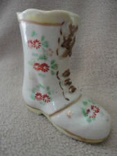 Japan Boot Floral Shoe Collectors Decorated Vase 3 in Tall Vintage Antique